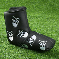 1PC Skull Golf Putter Head Cover Golf Club Mallet Blade Headcovers PU Leather