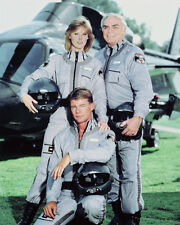 AIRWOLF COLOR 11X14 PHOTO JAN MICHAEL VINCENT CAST