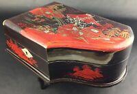 Belle boite bijoux musicale,  vintage , Japon - Intérieur miroir et fonctionne
