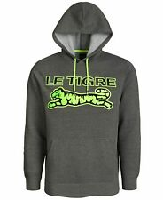 Le Tigre Mens Sweater Green USA Small S Textured Logo Pocket Hooded $79 #032