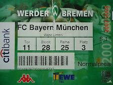 TICKET 2007/08 SV Werder Bremen - Bayern München