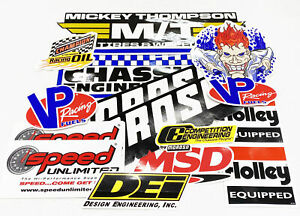 Speed Unlimited Racing Decal Sticker Pack 13 Piece Assortment Drag Racing