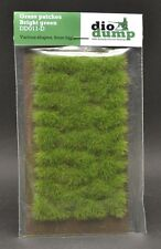DioDump DD011-D  6mm realistic grass patches BRIGHT GREEN diorama scenery