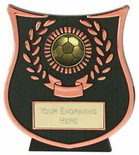 Emblems-Gifts Curve Bronze Ball Football Plaque Trophy With Free Engraving