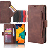 For Samsung Galaxy S10E Note 10+ Plus A10 A20E A40 Leather Cards Slot Case Cover
