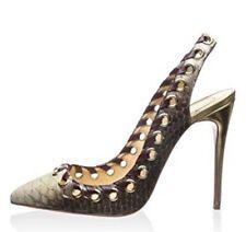 Christian Louboutin Ostri Pumps Slingback Sandals Python Skin 36.5/6 $1495