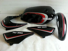 YAMAHA RD250LC RD350LC 4LO 4L1 3 STRIPE BLACK PAINTWORK FULL DECAL KIT