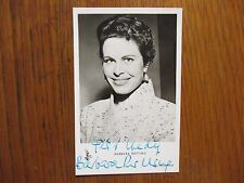 """BARBARA RUTTING(""""Town Without Pity/The Last Bridge"""") Signed 3 x 5 B&W Photo/Card"""