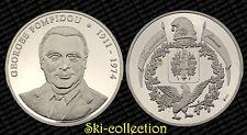 Médaille Georges POMPIDOU (1911-1974). Argent/ Silver 999°, 21,5 gr. PROOF