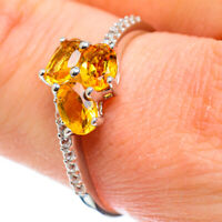 Citrine 925 Sterling Silver Ring Size 10 Ana Co Jewelry R51822F