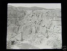 Glass Magic Lantern Slide LINE OF SMASH - CROWDEN C1900  GEOLOGY QUARRY