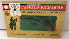 VINTAGE FAMOUS FIREARMS IN MINIATURE BY MARX TOY CIVIL WAR PISTOL NEW SEALED!