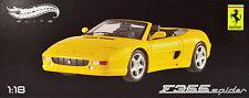 Ferrari F355 Spider Berlinetta 1994 gelb Maßstab 1:18 von HotWheels