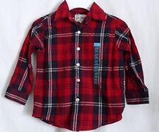 BOYS 5 6 S  NAVY WHITE RED PLAID BUTTON DRESS SHIRT NWT ~ THE CHILDREN'S PLACE