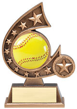"Softball trophy or award, about 5.5"" tall, engraving included, new design"
