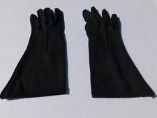 DESIGNER LADIES BLACK NYLON DRESS GLOVES UNLINED SIZE 6.5