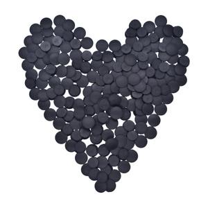 100pcs Plastic Buttons Black Ornaments DIY Shoes Accessory Lightweight Buckles