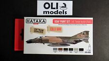 USAF Vietnam War Era Cold War Camouflage Acrylic Paint Set 6x17ml - HATAKA AS09