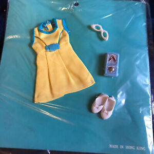 Vintage Skipper Outfit Clothes Sew Card New Old Stock Hong Kong - Yellow Dress