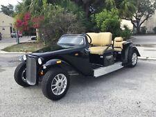 2021 BLACK California Roadster Golf Cart 6 Passenger Seat LUXURY CUSTOM LIMO