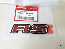 LOGO RS HONDA Decal Emblem Badge FIT JAZZ CIVIC JDM GENUINE PARTS Rear