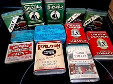 12 Vintage Pocket Tobacco Tins Great Shape 5-9 on a 1-10 scale