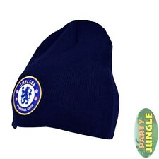 Chelsea Basic Beanie Hat Navy Football Soccer Official Licensed Mens Accessory