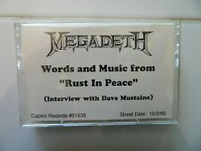 DAVE MUSTAINE OF MEGADETH - RARE 1990 PROMO ONLY INTERVIEW CASSETTE TAPE