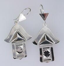 Sterling silver Tuareg earrings.  Handmade   African  Tribal  Ethnic
