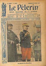 Portrait Général Louis Ernest de Maud'huy Saint-Cyr France WWI 1917 ILLUSTRATION