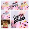 Acrylic Happy Birthday Cake Topper Dessert Cupcake Flags Baking Decoration m
