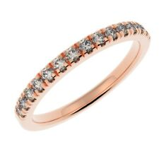 0.25ct Micro Pave Round Diamond Half Eternity in Rose Gold