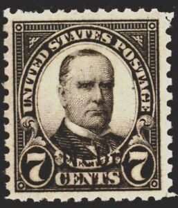 U.S. #676 7c McKinley (1929), black, Nebr. Overprint, MLH