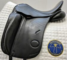 "Canterbury Equation 18"" Medium-Wide Dressage Saddle, short flap"