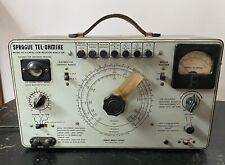 New listing Sprague Tel-ohmike Model To-4 Capacitor Resistor Analyzer
