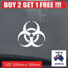 Biohazard zombie symbol Car Sticker BUY 2 GET 1 FREE !!!