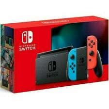 @ @ Nintendo Switch 32GB Console Neon Blue Red Joy-Con Newest Model V2 Brand New