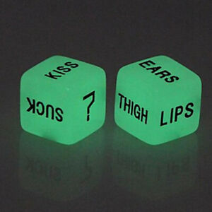 2pcs Funny Glow In Dark Love Dice Toys Adult Couple Lovers Games Sex Party `