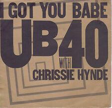 UB40- WITH CHRISSIE HYNDE I Got You Babe / Nkomo A Go Go 45 - P/S