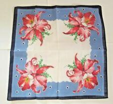 3 Vintage Ladies Handkerchiefs - Edelweiss, Mums, Orchids Motifs