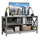 Wooden TV Stand Cabinet 2 Tier Home Furniture Entertainment Unit Storage Shelves