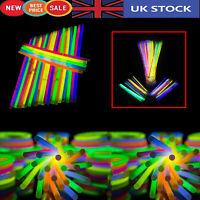 100pcs Glow Sticks Neon Colors Theme Party Favors Bracelets Necklaces Disco Rave