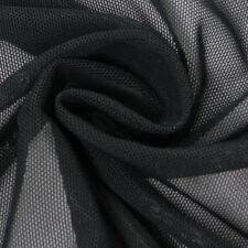 Faschingsstoff Tüll elastisch weich schwarz 1,5m Breite