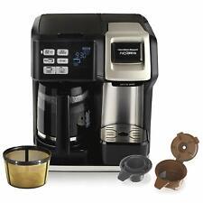 Hamilton Beach 12 Cup Coffee Maker Single Serve Full Pot K Cup Pod Programmable