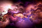 Home Decor Canvas Print Painting Wall Art Psychedelic Nebula Space HD Picture