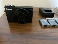 Canon PowerShot G9 X Digital Camera with 3x Optical Zoom, Wi-Fi, 3x Batteries