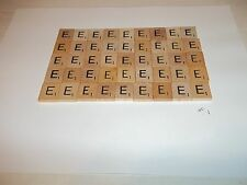 """Vintage Wooden Scrabble Tiles  50 """"E"""" Tiles  #1 With FREE Shipping!"""