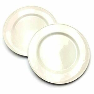 2 Oneida Rolled Edge Domestic White Dinner Chop Plates 11 7/8 USA 9502F