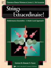 Strings Extraordinaire! String Bass Music Book-Performance Ensembles-New On Sale