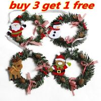 Mini Christmas Wreath Decor Wall Door Hanging Ornament Garland Xmas Party Decor